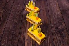 Gele snoepjes royalty-vrije stock foto