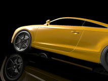 Gele sportwagen Stock Foto