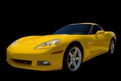 Gele Sportwagen stock afbeeldingen