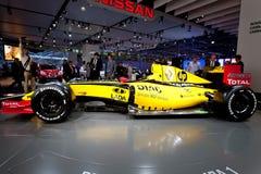 Gele sportwagen Fomula 1 Renault Stock Foto's