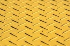 Gele staalachtergrond Stock Afbeelding
