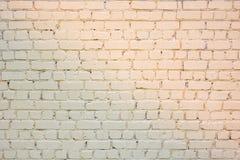 Gele steenbakstenen muur Royalty-vrije Stock Foto's