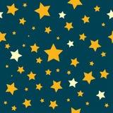 Gele Sterren Teal Sky Pattern Royalty-vrije Stock Fotografie