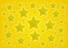 Gele sterrenachtergrond Stock Foto