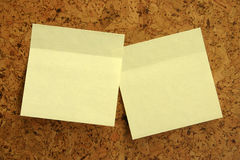 Gele stickers Royalty-vrije Stock Afbeelding