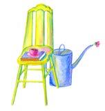 Gele stoel Stock Foto's