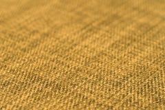 Gele stoffentextuur Abstracte achtergrond, leeg malplaatje Royalty-vrije Stock Foto