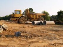 Gele stortplaatsvrachtwagen Royalty-vrije Stock Foto