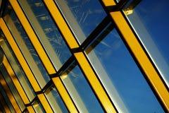 Gele stralen 2 stock afbeelding