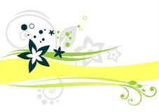 Gele strook vector illustratie