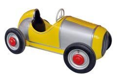 Gele stuk speelgoed auto royalty-vrije stock foto