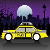 Gele taxi Royalty-vrije Stock Foto's