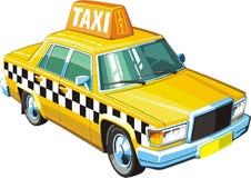 Gele taxi Royalty-vrije Stock Afbeeldingen