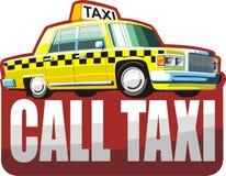 Gele taxi Stock Foto