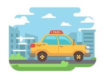 Gele taxi Stock Afbeeldingen