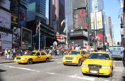 Gele taxi, NYC Royalty-vrije Stock Afbeelding