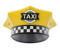 Gele taxibestuurder GLB royalty-vrije illustratie