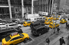 Gele taxis in Manhattan Royalty-vrije Stock Foto's