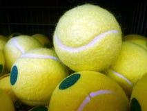 Gele tennisbal Stock Afbeelding