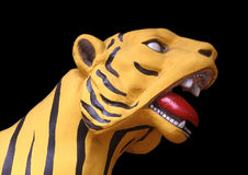 Gele tijger Royalty-vrije Stock Foto's