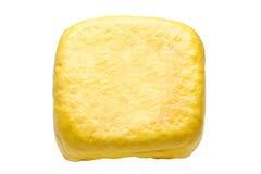 Gele tofu op wit Royalty-vrije Stock Afbeelding
