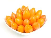 Gele tomaten Royalty-vrije Stock Foto's
