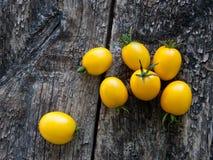 Gele tomaten Stock Foto's