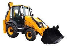 Gele tractor Stock Foto's