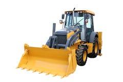 Gele tractor Stock Fotografie