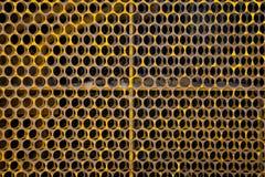 Gele traliewerkachtergrond royalty-vrije stock foto