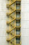 Gele trappen Stock Afbeeldingen