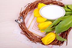 Gele tulpen De lente Royalty-vrije Stock Fotografie
