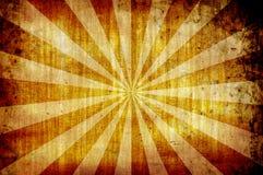 Gele uitstekende grungeachtergrond met zonstralen vector illustratie