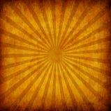 Gele uitstekende grungeachtergrond met zonstralen royalty-vrije illustratie