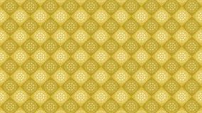 Gele uitstekende ornamentachtergrond, decoratief behang Stock Afbeelding