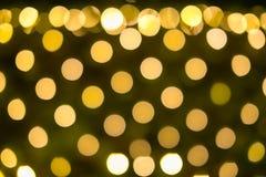Gele vakantie feestelijke bokeh De abstracte Achtergrond van Kerstmis royalty-vrije illustratie