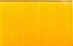 Gele van de het staal gestreepte lijn van de dooscontainer de textuurachtergrond royalty-vrije stock fotografie
