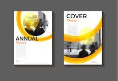 Gele van het achtergrond dekkingsontwerp moderne boekdekking abstracte Broc Stock Foto's