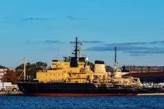 Gele vastgelegd icebreakers stock foto