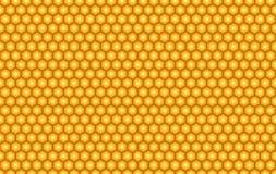 Gele vector de textuurachtergrond van de bijenhoningraat vector illustratie