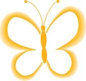Gele vectorvlinder stock foto