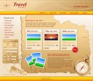 Gele VectorWebsite voor reisbureau Stock Foto
