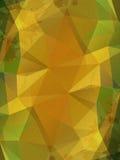 Gele verfrommelde document abstracte achtergrond Royalty-vrije Stock Afbeelding