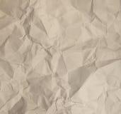 Gele verfrommelde document Textuur royalty-vrije stock afbeeldingen