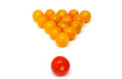 Gele verse tomaten als snooker royalty-vrije stock foto