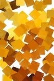 Gele vierkanten Stock Foto's