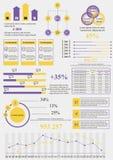 Gele violette informatie Stock Foto's