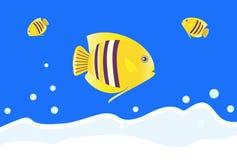 Gele vissen Stock Foto