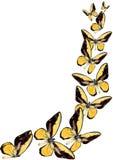 Gele vlinder Stock Foto