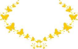 Gele vlinders voor groetkaarten Royalty-vrije Stock Foto